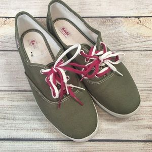 Keds Olive Green Canvas Sneakers